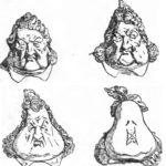 Рисунок Ш. Филипона. Превращение головы Луи-Филиппа в грушу.