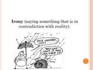 Понятие иронии в английском и русском языках