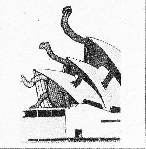 Иллюстрации 2. Оперный театр в Сиднее и метфорическое толкование формы.