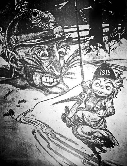 Рисунок 2. «Голова Кайзера». Рис. А. Воронецкого. Приазовский край. Иллюстрированное приложение к газете. 1915. 1 января.